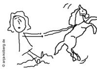 Manchmal gehen die Pferde mit mir durch