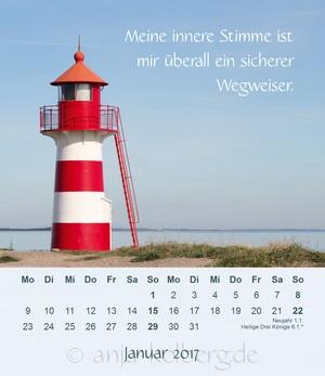 Tischkalender mit Meerbildern