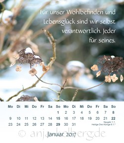 Januar - Tischkalender Ganz ich selbst sein