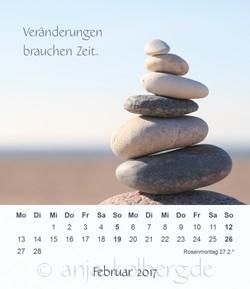 Februar: Tischkalender Ganz ich selbst sein 2017