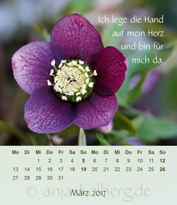 Tischkalender Ganz ich selbst sein: März 2017
