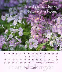 Tischkalender Ganz ich selbst sein: April 2017