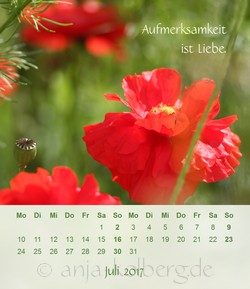 Tischkalender Ganz ich selbst sein 2017
