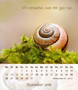 Tischkalender Dezember 2016 Alles wird gut