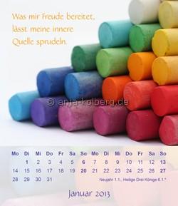 Januar 2013 Tischkalender Ein gutes Leben
