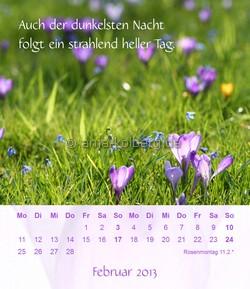 Februar - Tischkalender 2013 Ein gutes Leben.