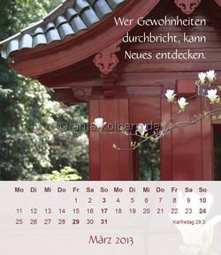 Tischkalender Ein gutes Leben 2013 - März