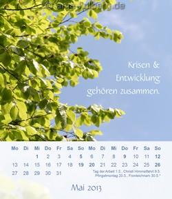 Tischkalender 'Ein gutes Leben' Mai 2013