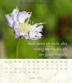 Juni 2013 - Tischkalender Ein gutes Leben
