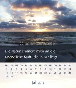 Juli 2013 Tischkalender Ein gutes Leben
