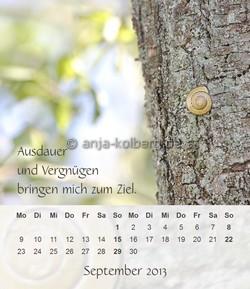 September 2013 - Tischkalender Ein gutes Leben