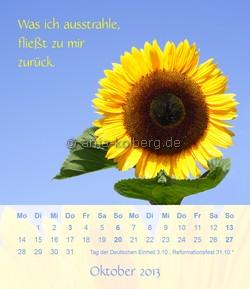 Oktober 2013 Tischkalender Ein gutes Leben