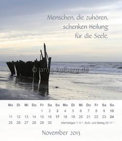 November 2013 Tischkalender Ein gutes Leben