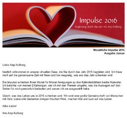 Monatliche Impulse