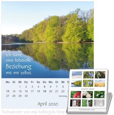 Tischkalender Innerlich stärker - April 2020