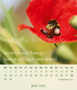 Juni - Tischkalender Balsam für die Seele