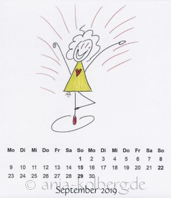 September 2019 - Lilo-Kalender