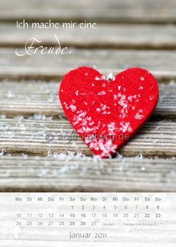 Ich mache mir eine Freude. Wandkalender Januar 2011.