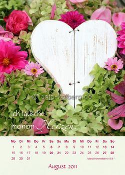 Wandkalender 2011: Herzensangelegenheiten
