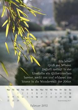 Februar 2012- Wandkalender