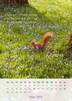 März 2012: Wandkalender