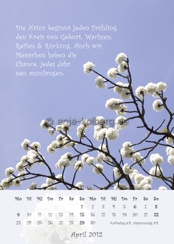 April Wandkalender 2012
