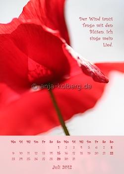 Juli 2012 Wandkalender