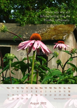 August 2012 - Wandkalender
