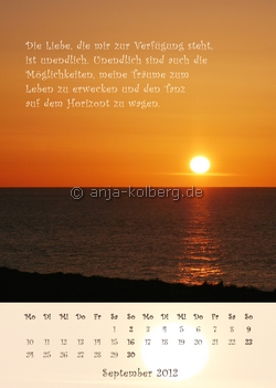 September 2012 Wandkalender