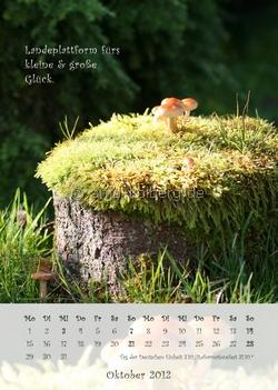 Oktober 2012 - Wandkalender