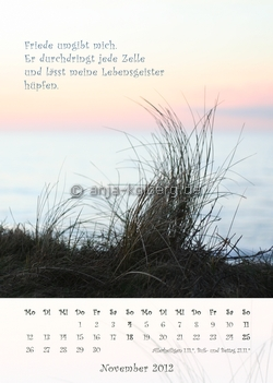 November 2012 Wandkalender