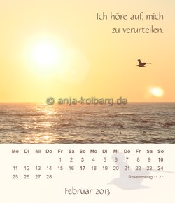 Februar 2013 Tischkalender Ich gehe meinen Weg