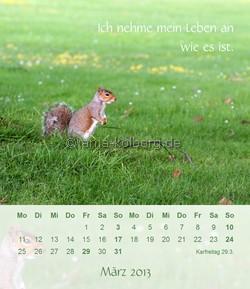 März 2013 Tischkalender Ich gehe meinen Weg