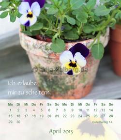 April 2013 Tischkalender Ich gehe meinen Weg