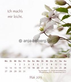Mai 2013 Tischkalender Ich gehe meinen Weg