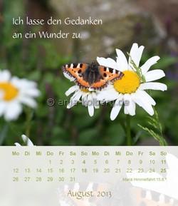 August - Tischkalender 2013 Ich gehe meinen Weg
