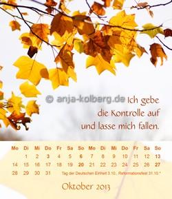 Oktober - Tischkalender 2013 - Ich gehe meinen Weg