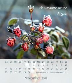 November 2013 - Tischkalender Ich gehe meinen Weg