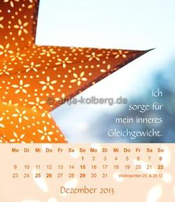 Dezember - Tischkalender 2013 Ich gehe meinen Weg