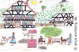 Bauernhof Kinderzeichnung