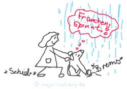 Blogmodel Minu Skizze Hund kein Regen bitte