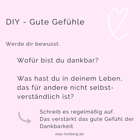 Do it yourself für gute Gefühle