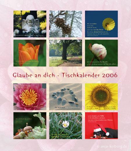 Erster Tischkalender für 2006