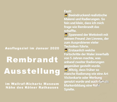 Wallraff Richartz Museum Rembrandt Ausstellung