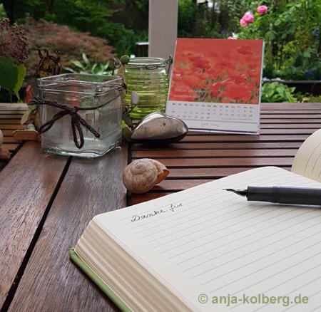 Dankebuch schreiben