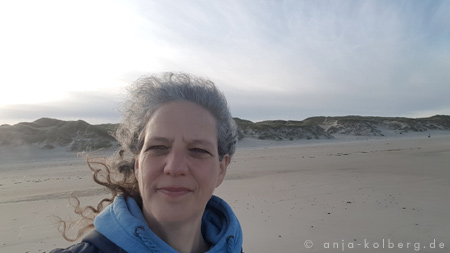 Anja am Strand