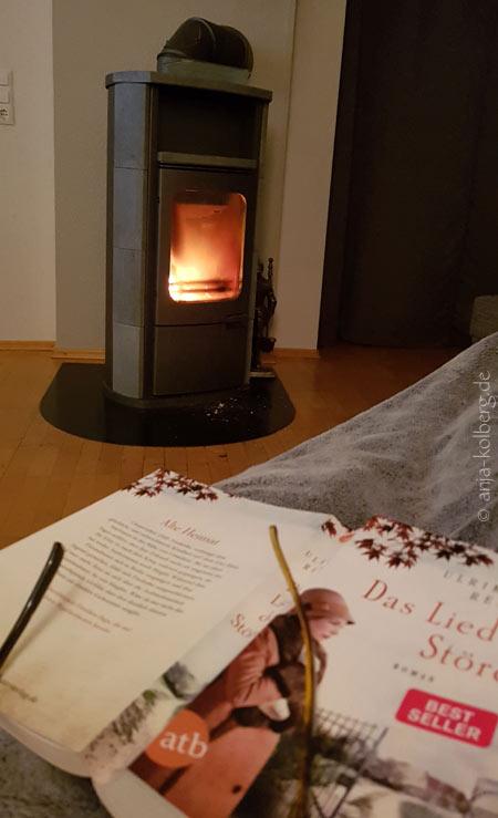 Lesesessel mit Blick auf das Feuer