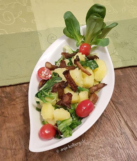 Veganer Kartoffel-Feldsalat