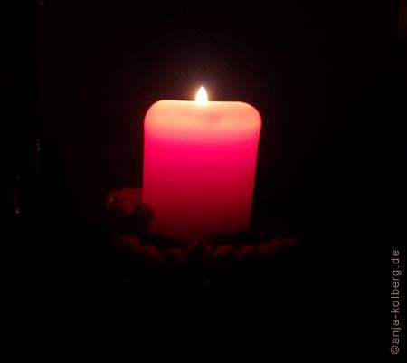 Kerzenlicht strömt Frieden aus