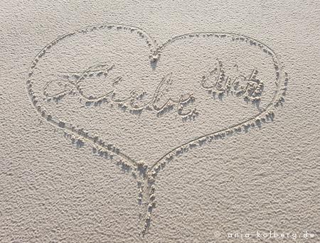 Liebe dich im Sand